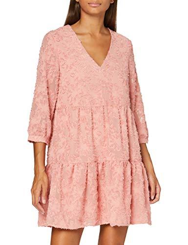 VERO MODA Damen VMLAURA 3/4 V-Neck Short Dress VMA Kleid für besondere Anlässe, Rosette, L