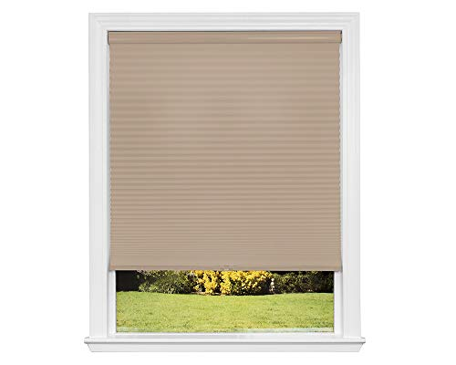 Artisan Select No Tools Custom Cordless Cellular Light Filtering Shades, Khaki, 27 1/2 in x 72 in