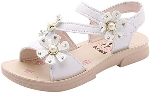 Sandalias Niñas Verano 2019 Sandalias de Flores Casuales Bohemias Princesa Zapatos Planos Sandalias y Chanclas para Niño Zapatos Niña Fiesta Pantuflas Patucos Calzado(Blanco,27 EU)