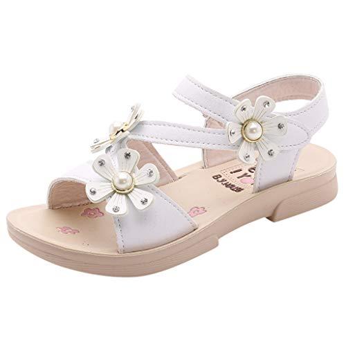 Sandalias Niñas Verano 2019 Sandalias de Flores Casuales Bohemias Princesa Zapatos Planos Sandalias...