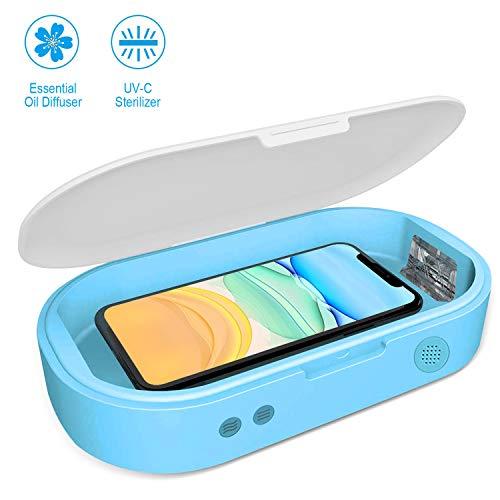 SPGUARD Handy Desinfektion,Smartphone Sanitizer,UV-Lichter Desinfektionsbox Reiniger Aromatherapie-Funktionsdesinfektor für Smartphone Android iPhone