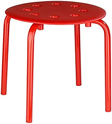 "Ikea Stool,Red,30 cm (11 3/4"")"