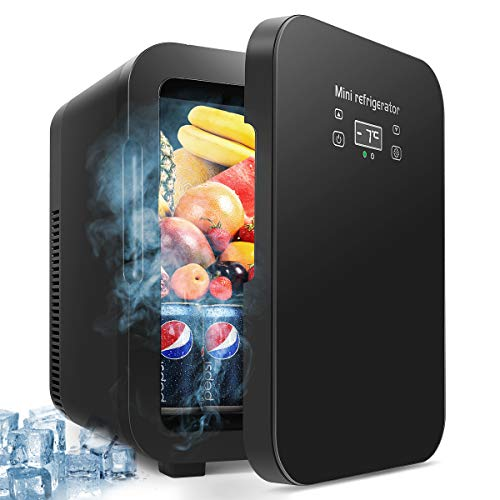 15 Liter Mini Fridge, Portable Refrigerator, Large Capacity Compact Cooler and Warmer with Digital Thermostat Display and Control Temperature, for Cars, Homes, Offices, and Dorms