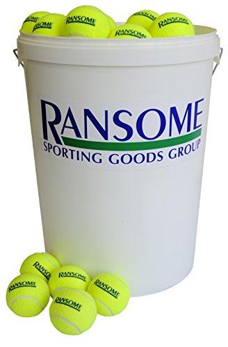 Ransome Sporting Goods 96 Tennisbälle mit Eimer, grün/weiß