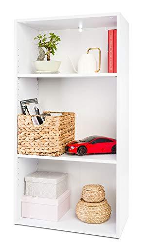 COSTWAY Bücherregal Standregal mit verstellbarem Ablage und Stauraum, Bücherschrank Holz, Mehrzweckschrank für Wohnzimmer, Schlafzimmer 60 x 32 x 115 cm