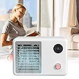 CX Mini Refrigerador de Aire Ventilador de la Cama Casa en la Cama de la Cama de Bajo Ruido Conveniente Usb Desktop Fan de Enfriamiento para la Oficina de Dormitorio calentador/Blanco / 217