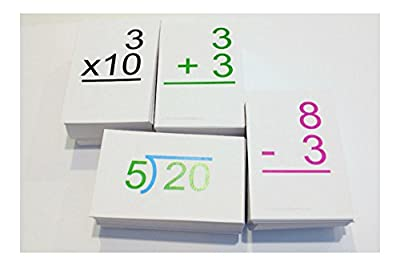 All Possible 0-12 Addition Subtraction Multiplication Division Math Flash Cards from na