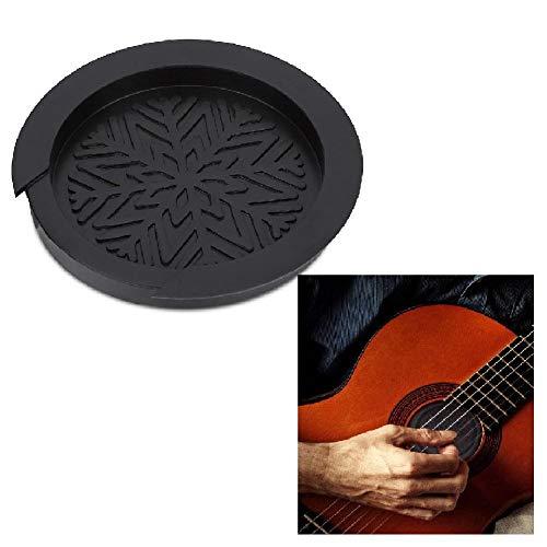 Alomejor Tapa del Orificio de Sonido Pastilla de Goma Negra para Guitarra Bloque de Orificio de sonid
