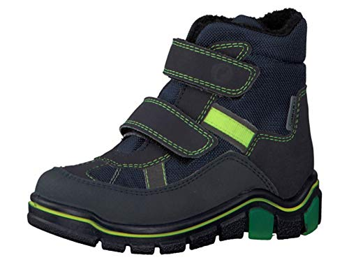 RICOSTA Pepino Jungen Winterstiefel Gabris, WMS: Weit, wasserfest, Winter-Boots Outdoor-Kinderschuhe warm wasserdicht Kids,See/Ozean,30 EU / 11.5 UK