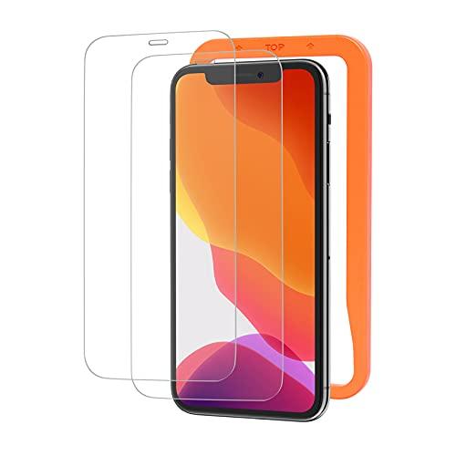 NIMASO ガラスフィルム iPhone 11 iPhone XR 用 強化 ガラス 保護 フィルム 2枚セット ガイド枠付き