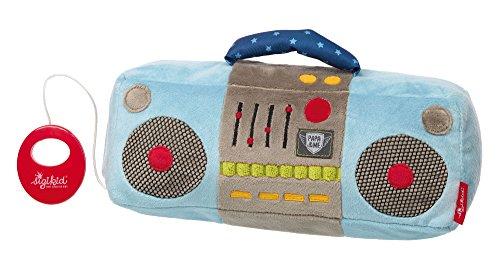 sigikid, Garçon, Peluche Musicale Radio, Papa & Me, Bleu, 41922