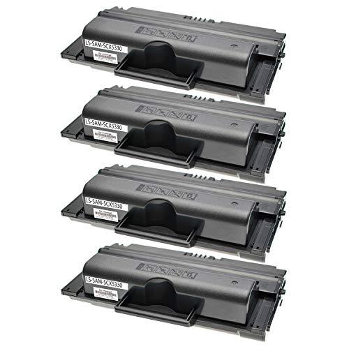 4 Toner kompatibel für Samsung SCX-5330N SCX-5530FN SCX-5500 Series - SCX-D5330B/ELS - Schwarz je 8.000 Seiten