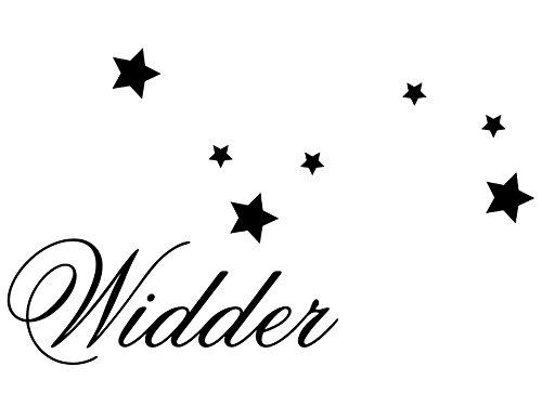 Wandtattoo-bilder® Wandtattoo Sternzeichen Widder Nr 4 Horoskop Wandaufkleber Wandsticker Farbe Hellrosa, Größe 140x84