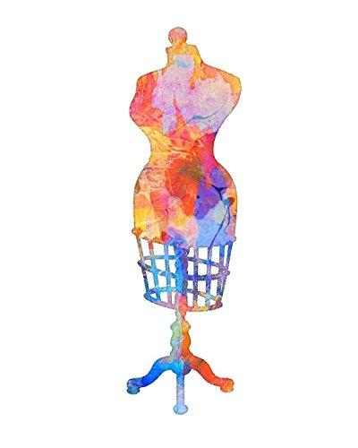 Watercolor Dress Form #3 Art Print by Dan Morris, 11x14, 12x16, 16x20