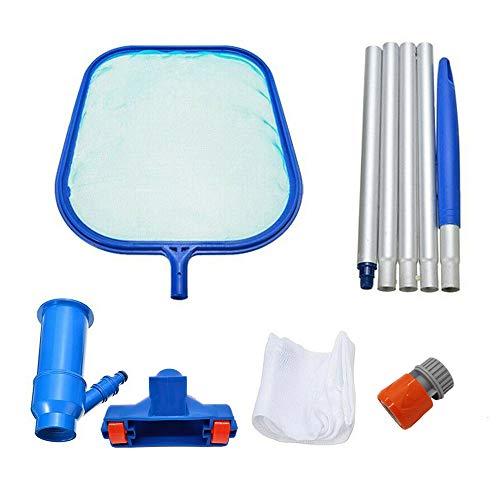 Piscina kit de limpieza, Skimmer Hoja Net + Vacío + Cepillo Montado Polo, Para Piscinas, Spa, Jacuzzi, Charca, Fuente