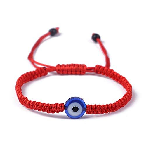 Fahou Azul Mal De Ojo La Cabala Rojo Cuerda Ajustable Unisex Pulseras De Joyeria De Moda