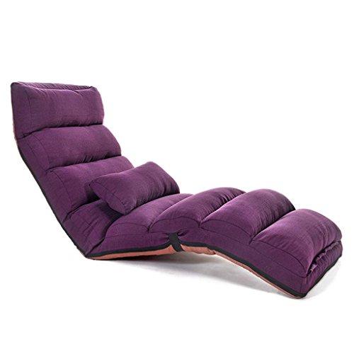 Krukken MEIDUO Duurzame Eenvoudige Multifunctionele Lazy Sofa Bed Inklapbaar Verstelbare Recliners Dual-use Slaapkamer Enkele Slaapbank Wasbare Lounge Stoel voor Even ideaal voor zowel thuis als binnen buiten