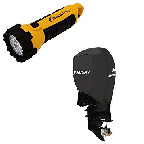 Toucan City LED Flashlight and Attwood Mercury Verado Engine Cover Fits 200, 225, 250, 300 Verado 105639
