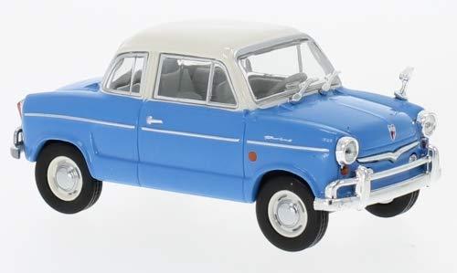 Unbekannt NSU Prinz 30E, blau/Weiss, 1959, Modellauto, Fertigmodell, WhiteBox 1:43