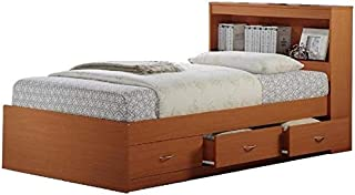 Pemberly Row Twin Captain Storage Bed in Cherry