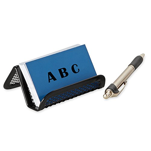 Rocutus 8pcs Business Card Holder Metal Business Card Holder Desk Business Card Holder Card Organizer Black Mesh Business Card Display Business Card Holder Desk Business Card Holder (Black) Photo #3