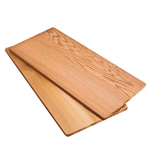 HPHOPE Grillbretter Grillplanken Zedernholzbrett zum Grillen Räucherbretter aus kanadischem Zedernholz Räucherplanke-2er Set