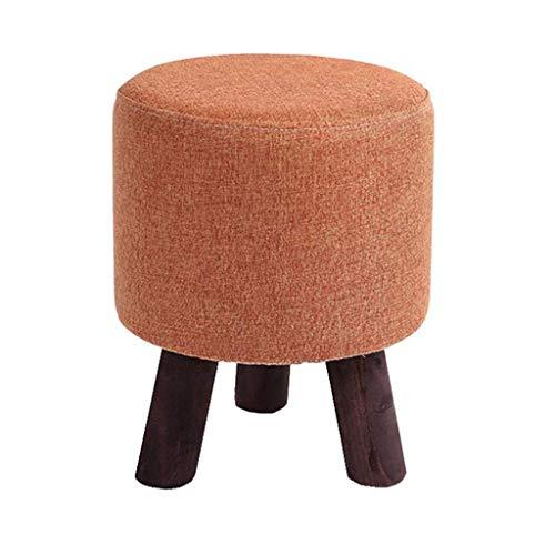 Voetsteun, hoogwaardig, comfortabele voetensteun, gevoerd, poten van luxe hout, schoenwissel, afneembare kapstok, plafond, linnen, effen voor thuis en bedrijf (kleur: A). Een