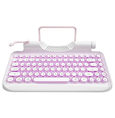 KnewKey - Teclado para máquina de escribir, estilo retro, inalámbrico, con soporte para tablet, teclado mecánico RGB, compatible con iOS, Windows, Android, idea para programadores y autores