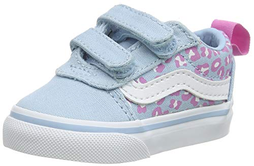 Vans Unisex Baby Ward V-Velcro Canvas Sneaker, Blau ((Cheetah) Dream Blue/White WG1), 25 EU