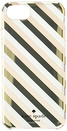 kate spade new york Protective Hardshell Case for iPhone 7 - Diagonal Stripe Blush/Gold
