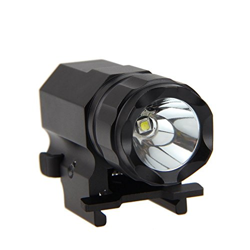 VastFire Lampe torche tactique à LED CREE 500 lumens pour Weaver Picatinny Mount