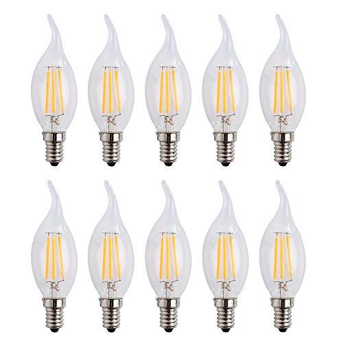 E14 C35 LED-draadlamp voor kroonluchter, E14 gloeidraad Retrofit Classic, LED-lamp als gloeilamp, 4W 400 lumen, vervangt 40W gloeilamp
