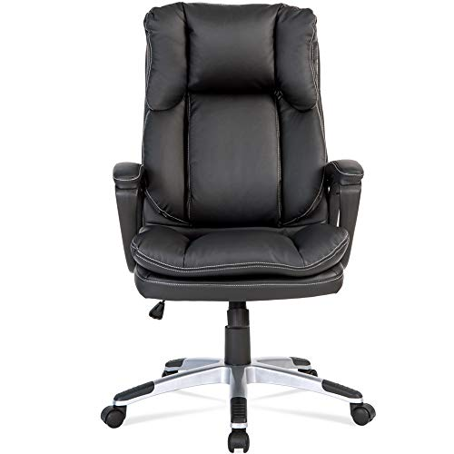 Merax High-Back Executive Desk Chair Black PU Leather Home Office Task Chair PC Computer Office Chair,Height Adjustable