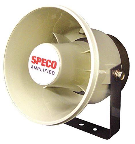 "SPECO ASPC20 20W 6"" Weatherproof Amplified PA Speaker Also for Digital Deterrent"