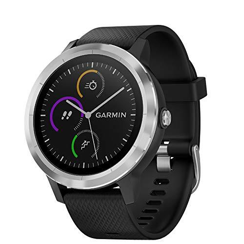 Garmin 010-01769-01 Vivoactive 3 GPS Fitness Smartwatch (Black & Stainless) + 1 Year Extended Warranty