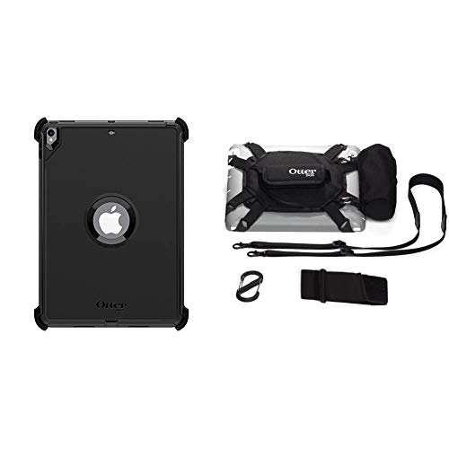 OtterBox Defender for Apple iPad Pro 10.5 Inch - Black & Utility Series Latch II Case with Accessory Bag for 10 inch Tablet