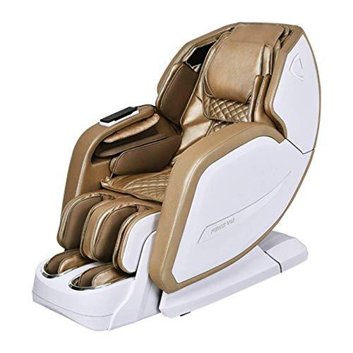 Sillas de masaje Cuerpo completo y reclinable, silla de masaje de gravedad cero, airbags Shiatsu Silla sillón reclinable con calefacción hacia atrás y rodillo de pie, rojo ( Color : Metallic )