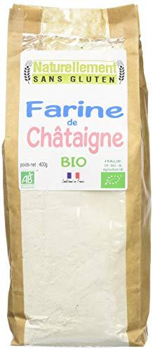 NATURELLEMENT SANS GLUTEN Farine de Châtaignes Bio 400 g - Lot de 2