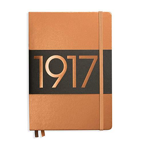 LEUCHTTURM1917 355680 Notizbuch Medium (A5), Hardcover, 251 nummerierte Seiten, dotted, Kupfer