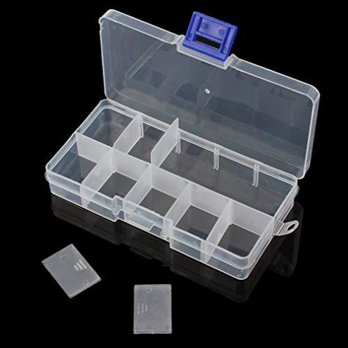 OriGlam Fishing Tackle Box Organizer Fish Tackle Storage Plastic Box Kit with Adjustable Dividers Tackle Organizer Boxes for Fishing Lures