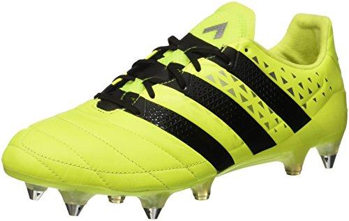 adidas Herren Ace 16.1 Sg Leather Fußballschuhe, Gelb (solar Yellow/core Black/silver Met,), 46 2/3 EU