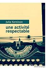 Une activité respectable de Julia Kerninon