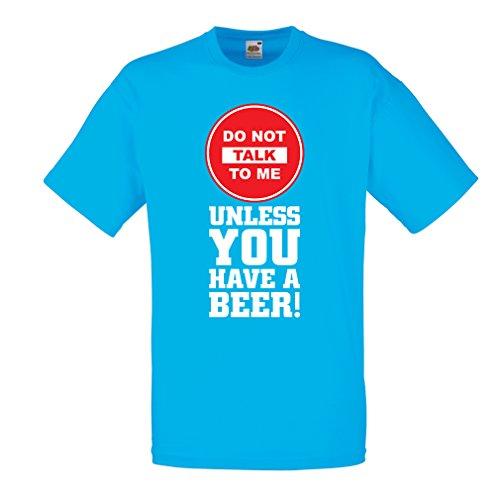 lepni.me Camisetas Hombre ¡Citas de los Amantes de la Cerveza! Ideas Divertidas del Regalo del Alcohol, Ropa para la Fiesta, Camisas para Beber, Pub, refrán del Bar (Small Azul Multicolor)
