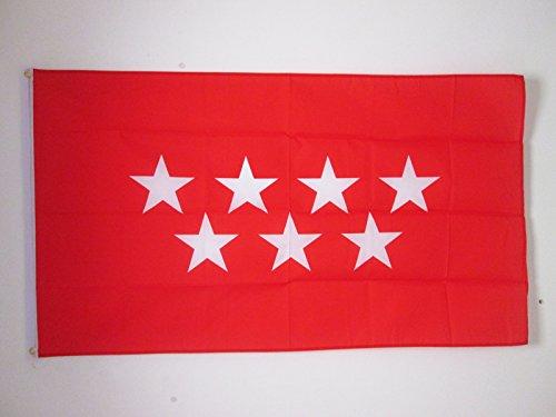 AZ FLAG Bandera de la Comunidad DE Madrid 150x90cm - Bandera MADRILEÑA 90 x 150 cm