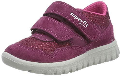 Superfit Baby Mädchen SPORT7 MINI-509191 Sneaker, Rot (Rot/Rosa 50), 25 EU