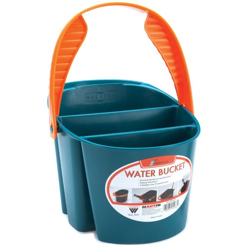 MARTIN Mijello 2-Liter Water Bucket Blue with Orange Handle