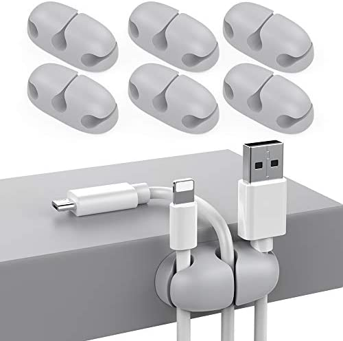 Delidigi 6 Pack Cable Organizer Clips for Desk Strong Adhesive Wire Cord Holder for Organizing product image