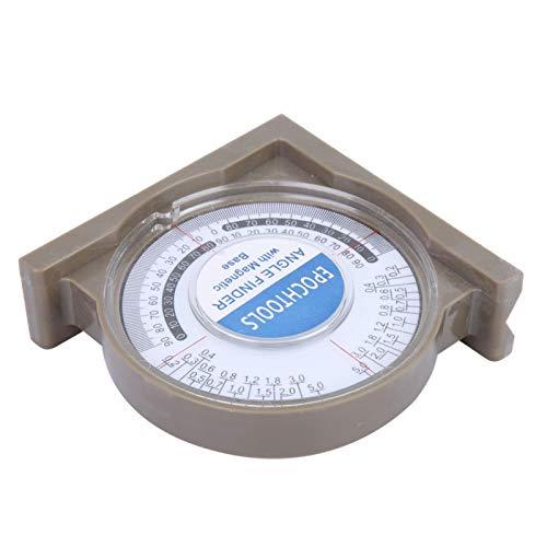 Voluxe Inclinómetro de Pendiente, inclinómetro de Pendiente ABS Buscador de ángulos Buscador de ángulos de Material ABS Herramienta de medición para medir ángulos de Productos