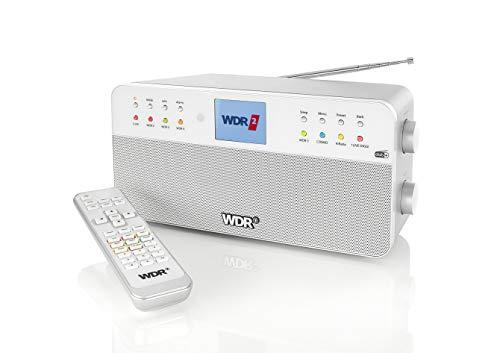 WDR-Radio - 8 Speichertasten für WDR-Sender - Fernbedienung - Bluetooth - Kopfhöreranschluss - Farbdisplay - Stereoklang - AUX-In - Silber - Digitalradio