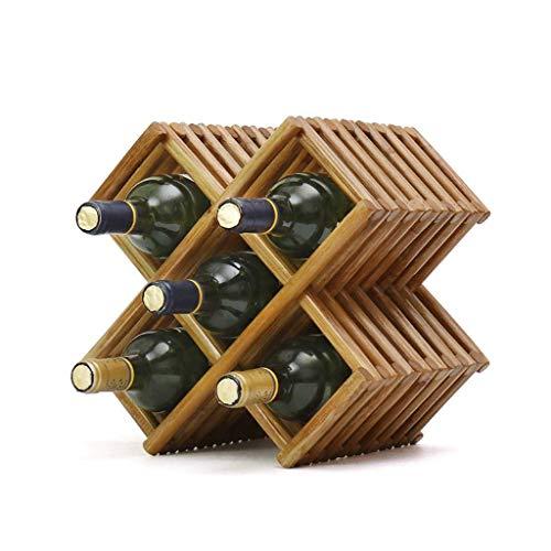 LYLSXY Estantes para Vino, Estante para Vino de Madera Iza, Estante para Vino, Estante para Vino, Muebles para el Hogar, Estante para Copas de Vino,a,# 1